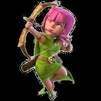 лучница clash of clans