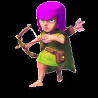 Лучница clash of clans третьего и четвертого уровня