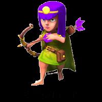 Лучница clash of clans шестого уровня