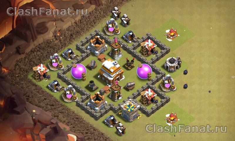 Расстановка ТХ 4 clash of clans