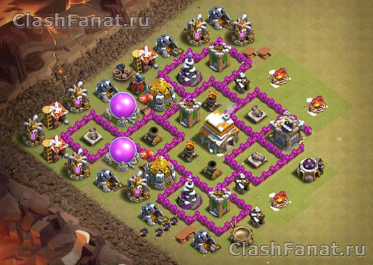 Расстановка ТХ 6 clash of clans