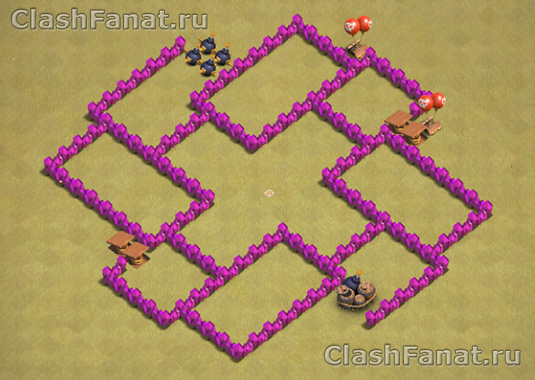 Расстановка базы ТХ 6 clash of clans