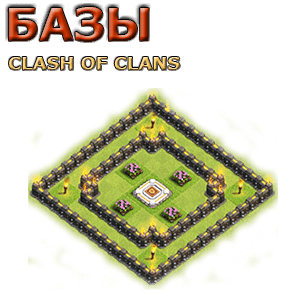 Расстановка clash of clans