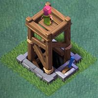 Башня лучниц 3 уровня clash of clans