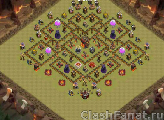 База ТХ 10 clash of clans