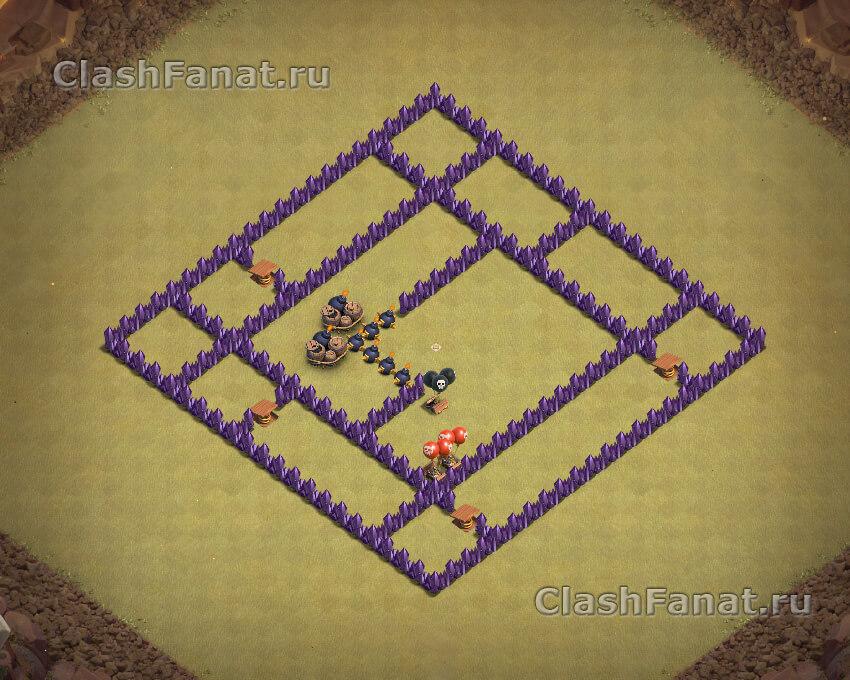 Расстановка ТХ 7 для клановых войн